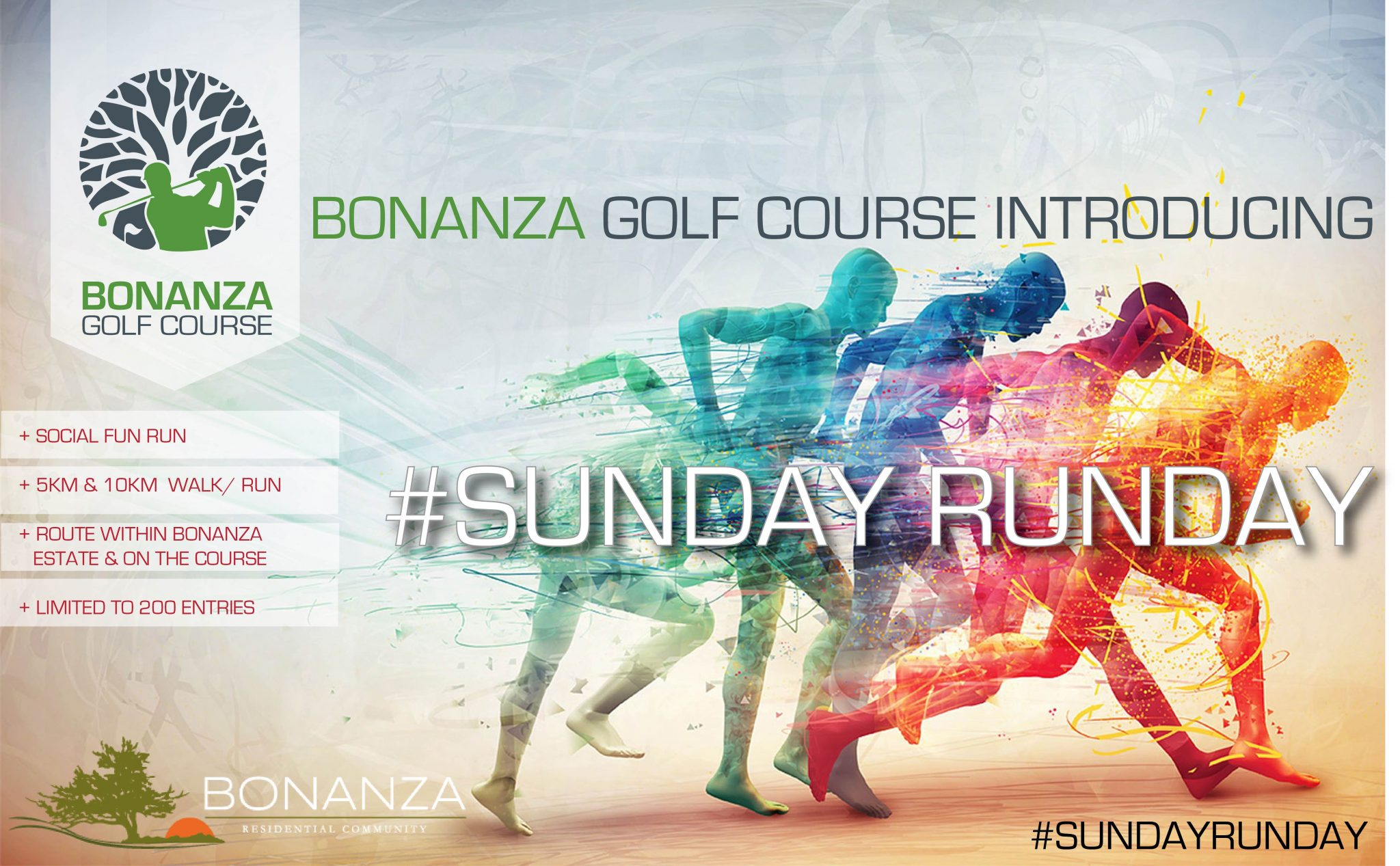 SUNDAY RUNDAY, fun run, social run, bonanza estate, bonanza golf course, lusaka, zambia