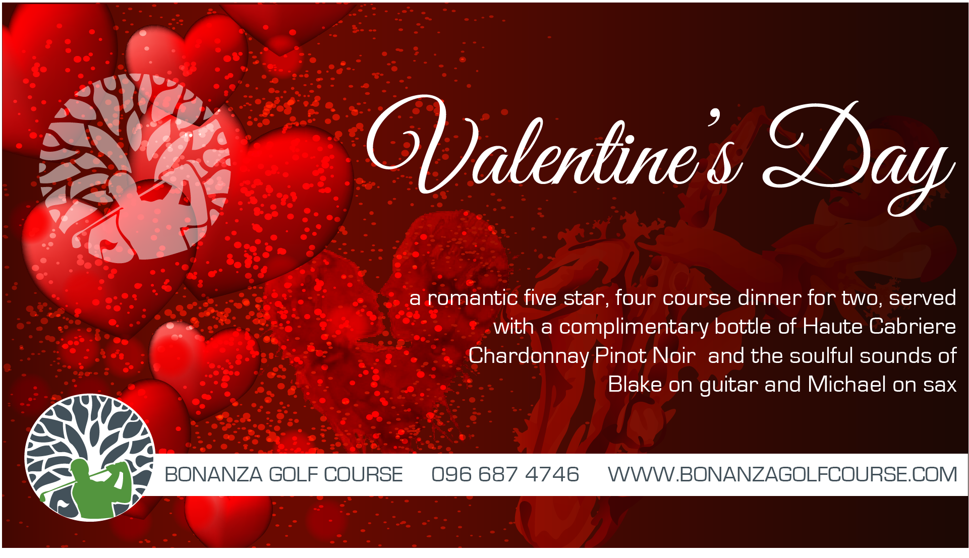 bonanza golf course, zambia, lusaka, valentines day, dinner