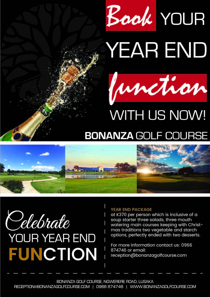 year end function; bonanza golf course, zambia, lusaka